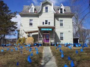 Sexual Assault Awareness Month 2013 flags